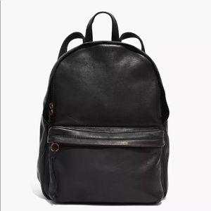 MADEWELL Lorimer Black Leather Backpack